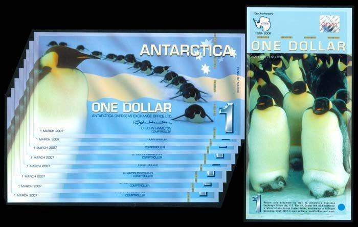 Antartica 9x$1 2007 AU-UNC