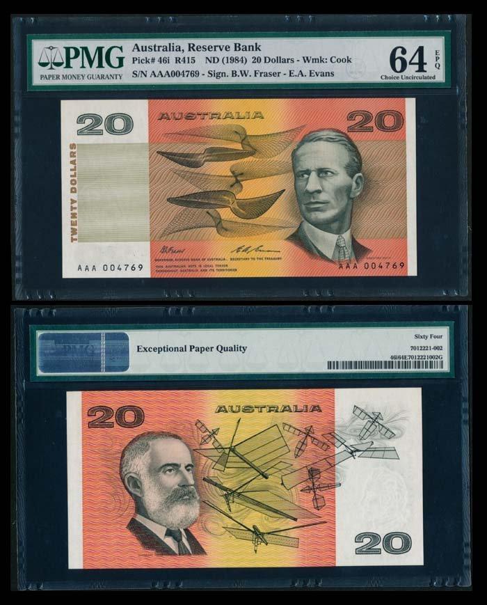 Australia $20 1984 PMG Choice UNC64EPQ