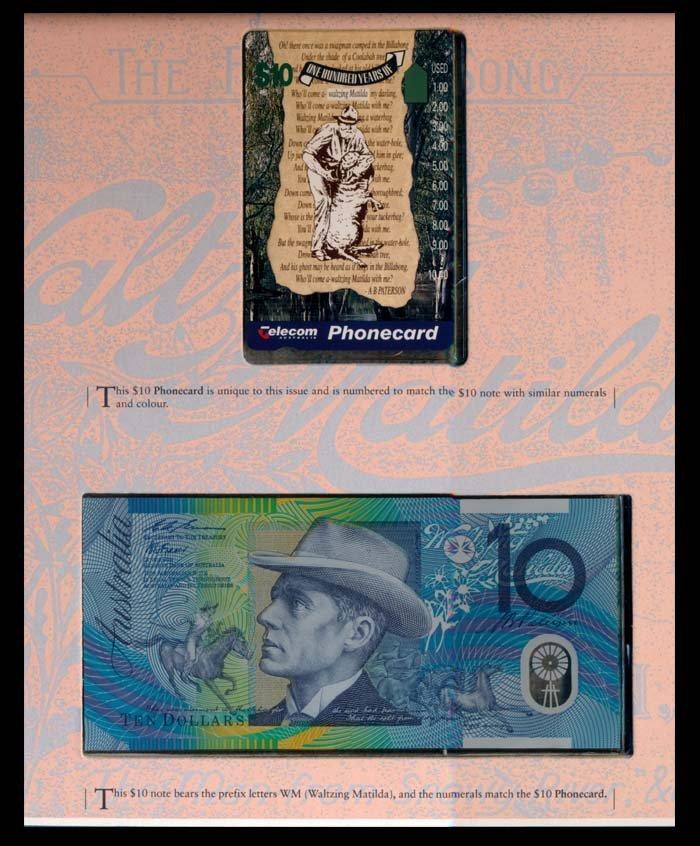 Australia $10 1993-94 & $10 phonecard
