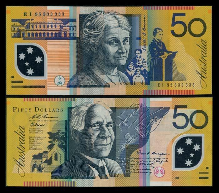 Australia $50 1995 EI 95 333333 VF