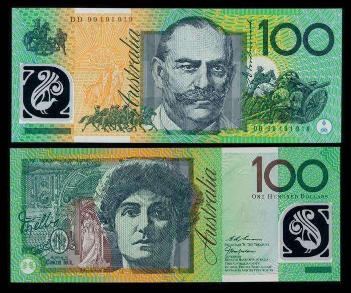 Australia $100 1998-2001 AU-UNC