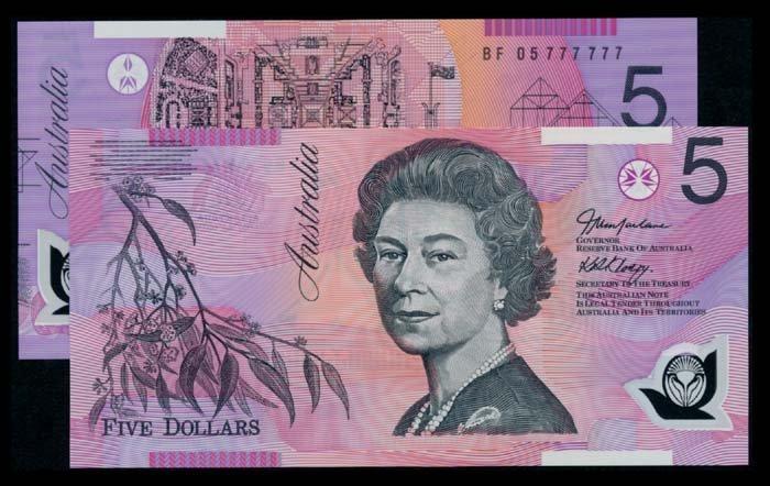 2 Australia $5 2005 QEII BF BG 05 777777
