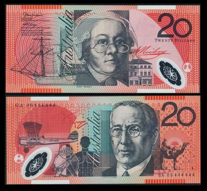 Australia $20 2006 GA 06 444444 AU-UNC