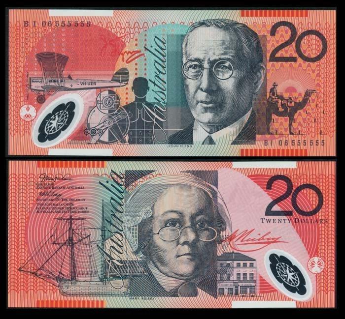 Australia $20 2006 BI 06 555555 AU-UNC