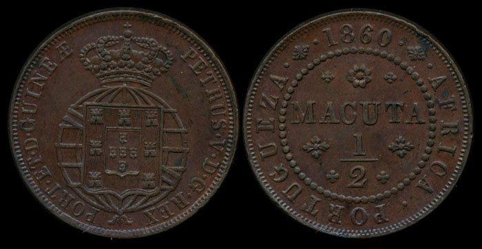 Angola Half Macuta 1860
