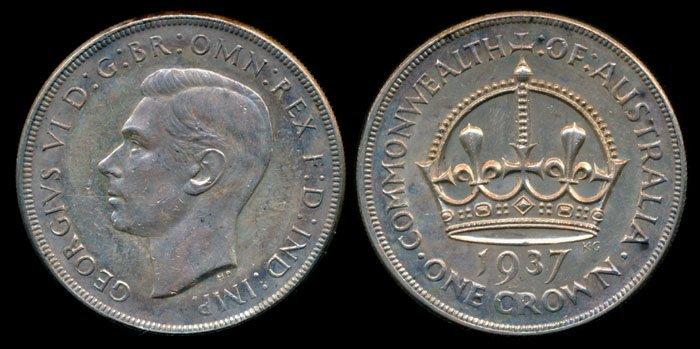 Australia KGVI Crown 1937 EF