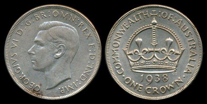 Australia KGVI Crown 1938 EF