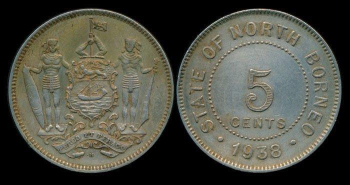British North Borneo 5c 1938H AEF