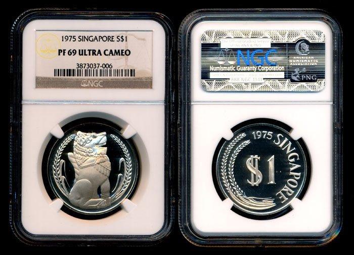Singapore $1 1975 proof NGC PF69UC
