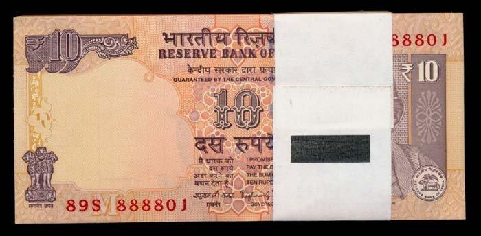 India 100x10 Rupees 2014