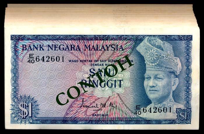 Malaysia 100x$1 1972-76