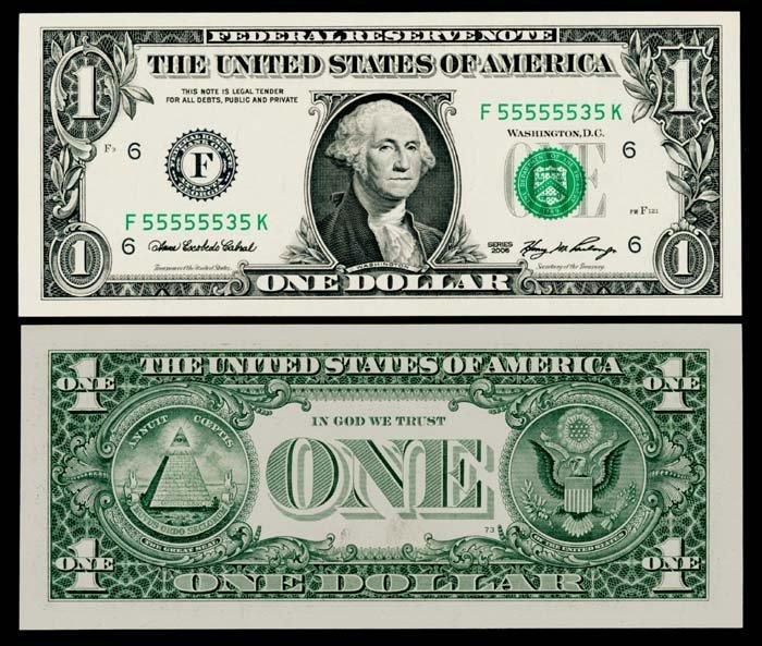 United States $1 2006 F 55555535 K