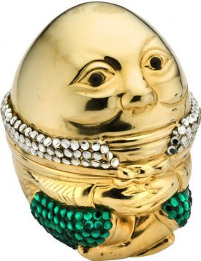 "59656: Mini Crystal ""Humpty Dumpty"" Box, Judith Leiber"