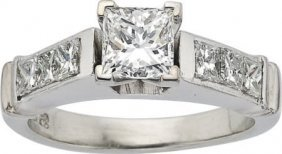 59663: Diamond, Platinum Ring, EGL
