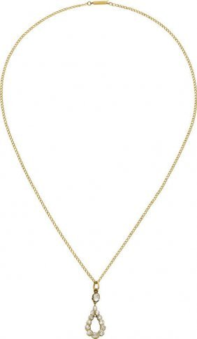 59678: Antique Diamond, Gold Necklace