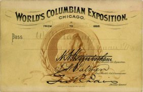 47373: World's Columbian Expo Columbus Pass