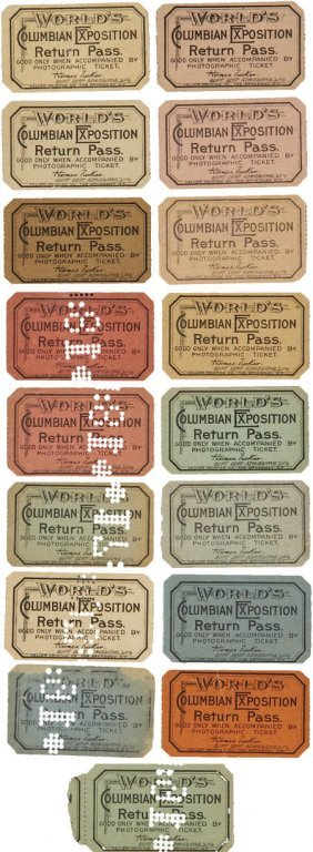 47376: Columbian World's Fair: 17 Return Tickets