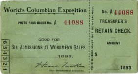 47386: World's Columbian Exposition Workman's Daily