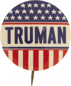 48037: Uncommon Truman Campaign Button
