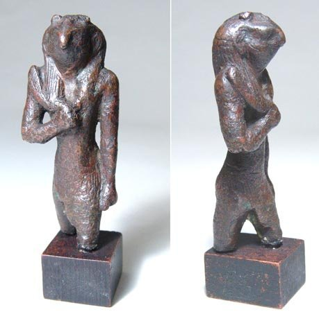6: A 26th Dynasty bronze statue of Monthu