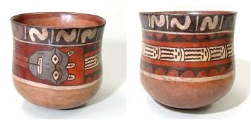 343 A large Nazca polychrome Cup depicting serpent ton