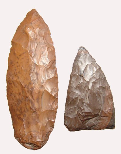 24: Pre-Dynastic Egypt, A lot of 2 stone tools from the