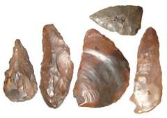 26: Pre-Dynastic Egypt, A lot of 5 nice stone tools, ex