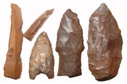 27: Pre-Dynastic Egypt, A lot of 5 nice stone tools, ex