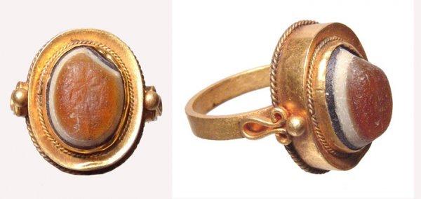 522:  Roman, 4 th – 5 th Century AD. A modern gold ring