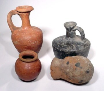 20: Lot of 4 pieces of pottery.
