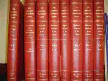 820: Braden, Richard P. DICTIONARY CATALOGUE OF THE LIB