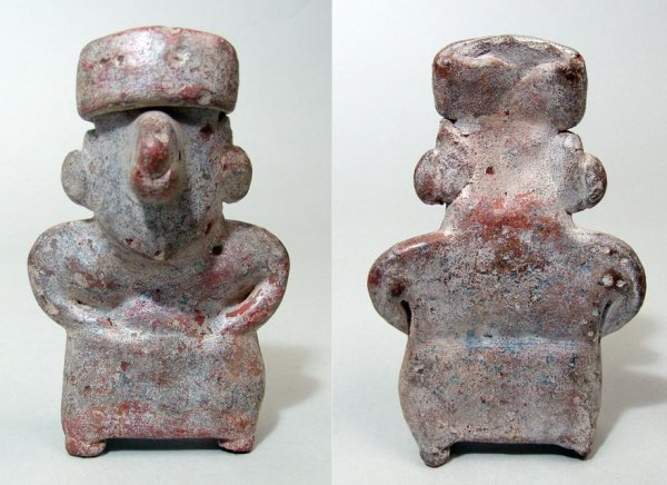 9: West Mexico, Nayarit, a nice ceramic of a standing f