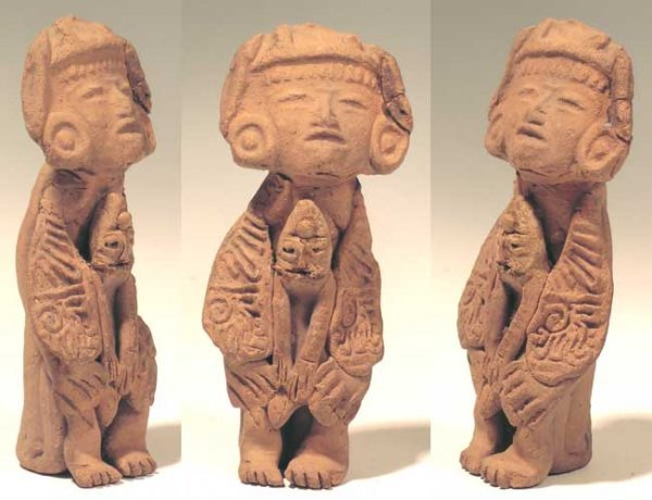 21: A Nice Teotihuacan seated figure, c. AD 400 – 650.