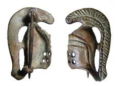 181: A Choice Roman Fibula in the form of a Gladiators