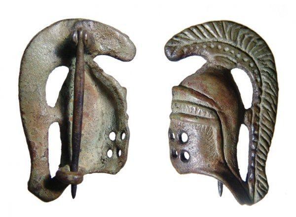 181: A Choice Roman Fibula in the form of a Gladiators