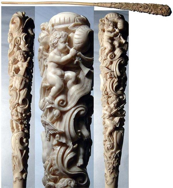 88: France, Dieppe, c. 1800 A. D. a fine ivory conducto