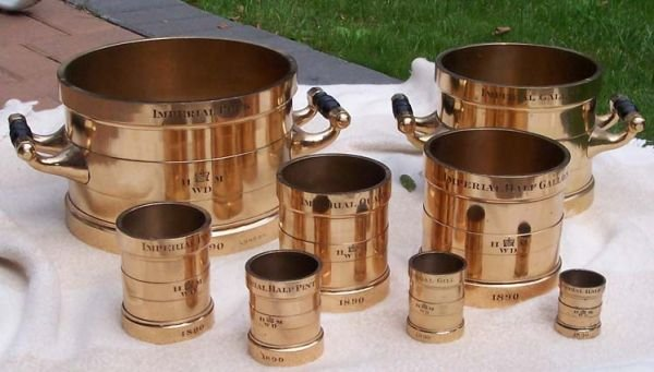 188: Superb and Rare set of English Dry Weights!!!