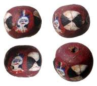 238: Lovely Round Fused Glass Face Bead. Choice!!