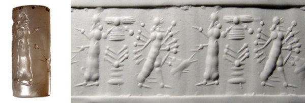 262: ANCIENT NEAR EASTERN TRANSLUCENT CHALCEDONY SEAL
