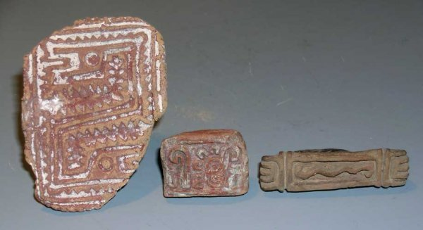 10: Mexico, Aztec, A Group of 3 Stamps Seals