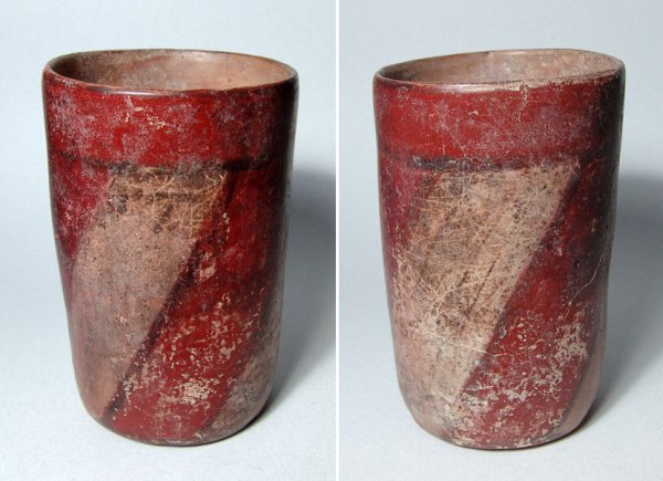 13: Mayan Cylinder with Red/White Stripe. Classic Type!