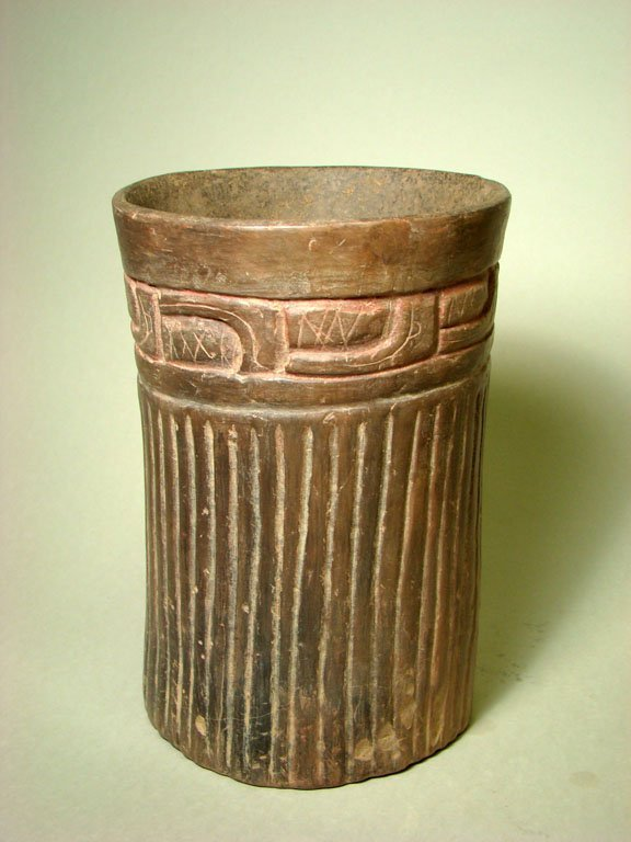 20: A Post-Classic Mayan Incised Cylinder Vessel