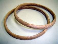 52: Pre-Dynastic Egypt, Lot of 2 Stone Bracelets. Rare!