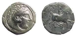 Danube Region, 3rd Century BC. AE-18 imitating iss