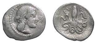 Syracuse. 474 - 450 BC. AR Litra. 0.67g. Head of A