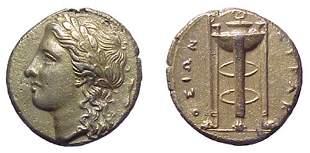 -, Agathokles. 317-289 BC. EL 50 Litrai. ca 310-30