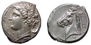 Siculo-Punic. C.320 – 300 BC. AR Tetradrachm. 16.7