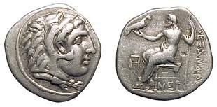-, -, AR Drachm, c.323 – 317 BC. Lampsacus, Mysia.