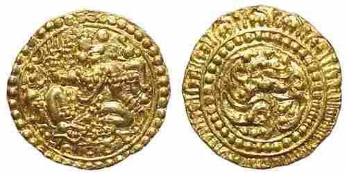 775: Kadam Bas of Goa, c.1075 – 1190 AD. AV Dinar. 4.27