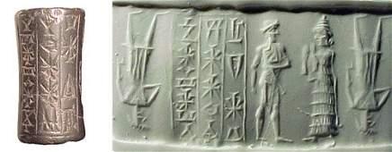 937: Old Babylonia, c.1900 – 1800 BC. A hematite cylind